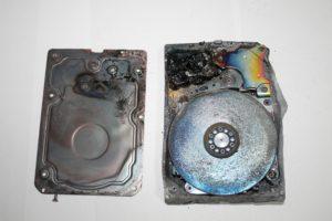 Вскрытие диска после пожара